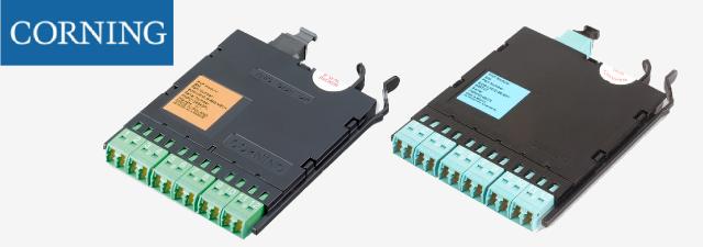 Corning ECM-UM12-05-93T 12 Fiber LC Duplex to MTP Connector Module